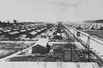 Vue générale du camp de Gurs
